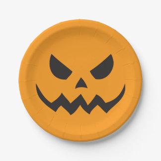 placas de papel de Halloween de la linterna de Plato De Papel De 7 Pulgadas