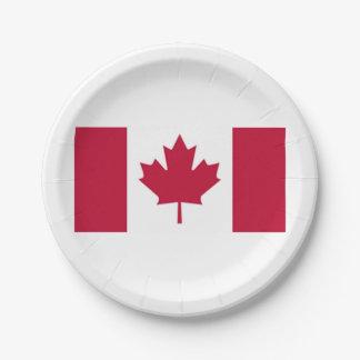 Placas de papel de la bandera canadiense platos de papel