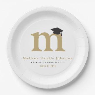 Placas de papel de la graduación clásica simple platos de papel
