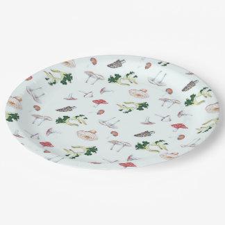 Placas de papel de la mezcla de la seta platos de papel