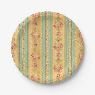 Placas de papel de la mirada del papel pintado del platos de papel