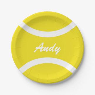 Placas de papel de la pelota de tenis del fiesta plato de papel de 7 pulgadas
