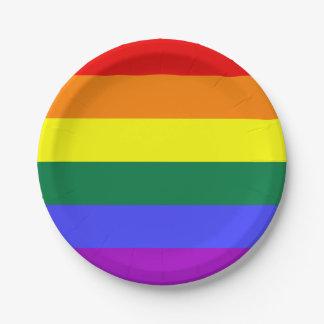 Placas de papel de la raya sólida del arco iris