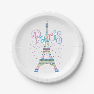Placas de papel de la torre Eiffel