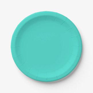 Placas de papel de la turquesa ligera plato de papel 17,78 cm