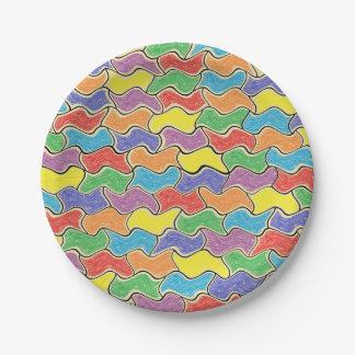 Placas de papel de las fluctuaciones coloridas