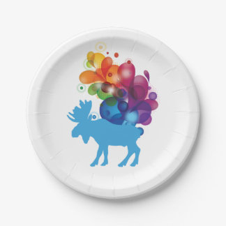 Placas de papel de los alces abstractos platos de papel