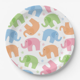 Placas de papel de los elefantes platos de papel