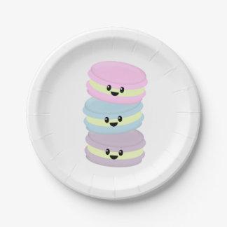 Placas de papel de los macarrones platos de papel