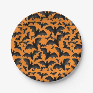 Placas de papel de los palos de vampiro de plato de papel de 7 pulgadas
