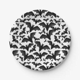 Placas de papel de los palos de vampiro del vuelo plato de papel de 7 pulgadas