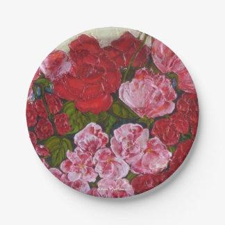 Placas de papel de los rosas por París Wyatt Platos De Papel