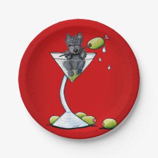Placas de papel de Martini KiniArt del escocés