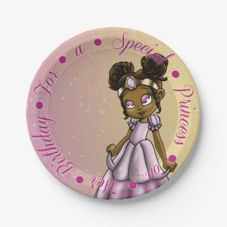 """""""Placas de papel de princesa Serena Birthday 7"""" Platos De Papel"""