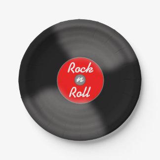 Placas de papel de registro del rollo de la roca N Plato De Papel De 7 Pulgadas