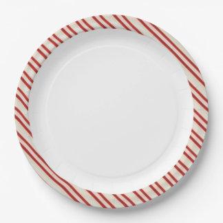 Placas de papel del bastón de caramelo platos de papel