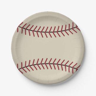 Placas de papel del béisbol del vintage plato de papel de 7 pulgadas