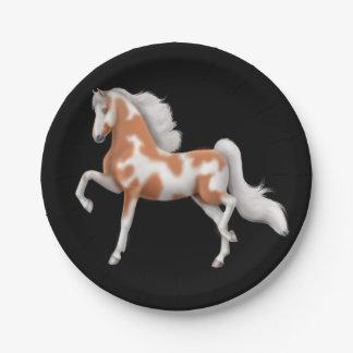 Placas de papel del caballo de la pintura de plato de papel de 7 pulgadas