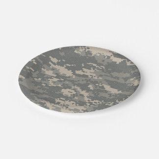 Placas de papel del camuflaje del ACU Digital Camo Platos De Papel