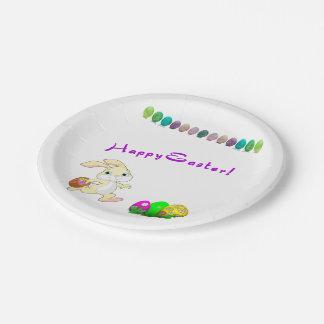 Placas de papel del conejito de pascua platos de papel