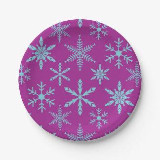 Placas de papel del día de fiesta congelado de los plato de papel de 7 pulgadas