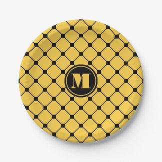 Placas de papel del diamante amarillo platos de papel