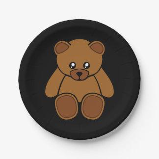 Placas de papel del dibujo animado del oso de plato de papel de 7 pulgadas