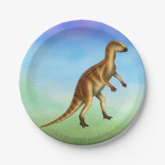 Placas de papel del dinosaurio prehistórico de