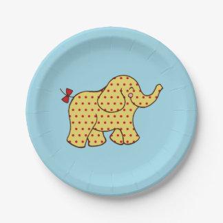 Placas de papel del elefante del circo platos de papel