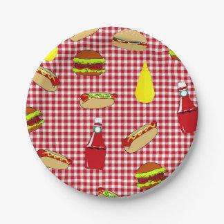 Placas de papel del feliz cumpleaños de la comida plato de papel de 7 pulgadas