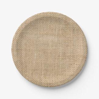Placas de papel del fiesta de encargo rústico de plato de papel de 7 pulgadas