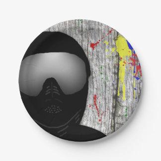 Placas de papel del fiesta de Paintball Plato De Papel De 7 Pulgadas
