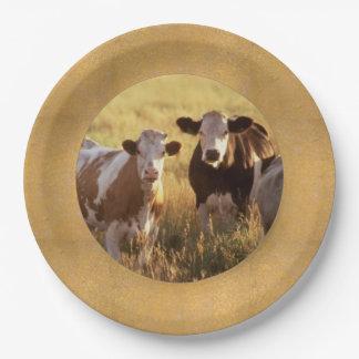 Placas de papel del ganado platos de papel