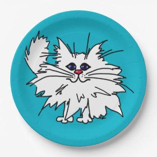 Placas de papel del gatito ingenioso plato de papel de 9 pulgadas