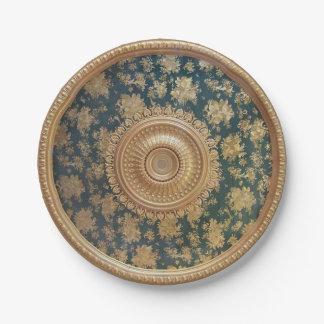 Placas de papel del medallón plato de papel de 7 pulgadas