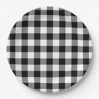 Placas de papel del modelo blanco y negro de la