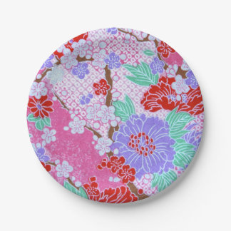 Placas de papel del modelo de Sakura del japonés Platos De Papel