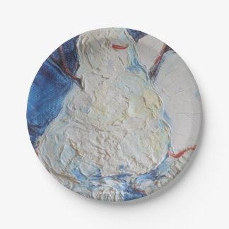 Placas de papel del muñeco de nieve por París Plato De Papel 17,78 Cm