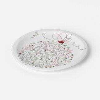 Placas de papel del ornamento del navidad platos de papel
