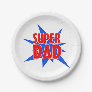 Placas de papel del papá de padre del fiesta plato de papel 17,78 cm