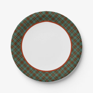 Placas de papel del tartán de la caza de Fraser Plato De Papel De 7 Pulgadas