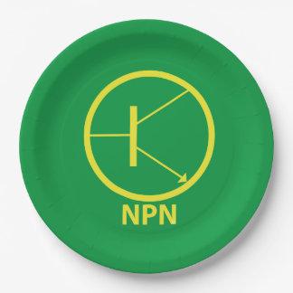 """Placas de papel del transistor de NPN 9"""" Plato De Papel De 9 Pulgadas"""