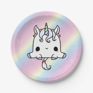 Placas de papel del unicornio (personalizar) platos de papel