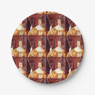 Placas de papel inglesas de la reina Victoria de Platos De Papel