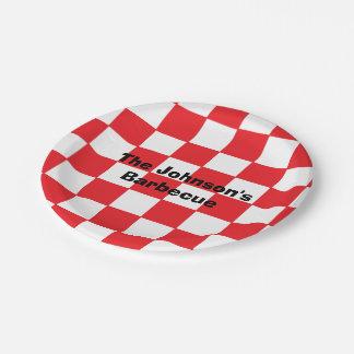"""Placas de papel personalizadas de la """"barbacoa"""" plato de papel de 7 pulgadas"""