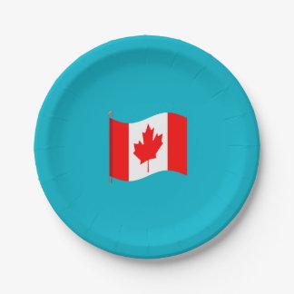 Placas de papel que agitan de la bandera platos de papel
