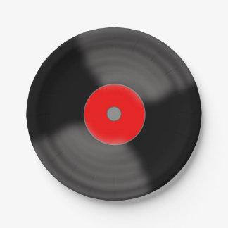 Placas de papel retras de música de los años 50 platos de papel
