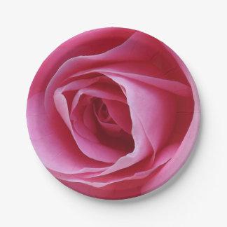 Placas de papel rosadas eternas plato de papel de 7 pulgadas
