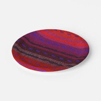 Placas de papel tejidas de las bandas plato de papel 17,78 cm