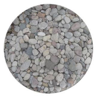 Placas de piedra del tema plato de comida